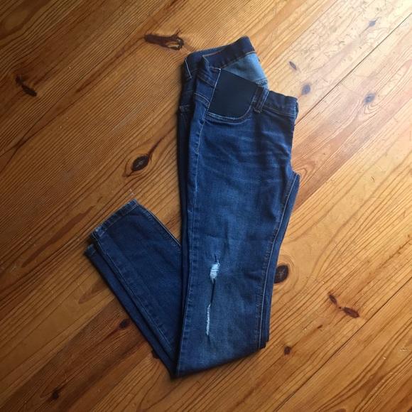 eba628107c697 Indigo Blue Jeans | Side Panel Skinny Maternity | Poshmark
